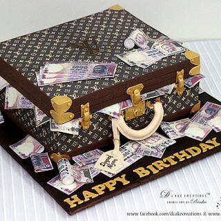 LOUIS VUITTON Suitcase Cake
