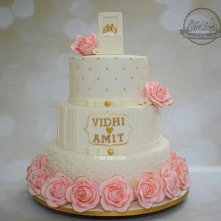 Bed of roses wedding cake - Cake by The Cake Love by Hiral Desai