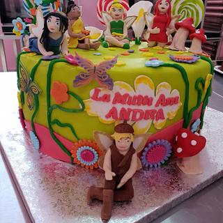 The Tinkerbell fairies cake