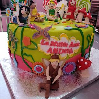 The Tinkerbell fairies cake