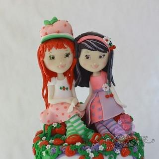 Strawberry Shortcake and Cherry Jam birthday cake