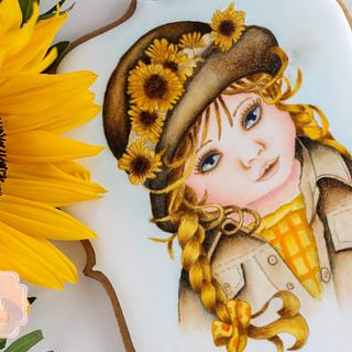Sunflower Girl Cookie