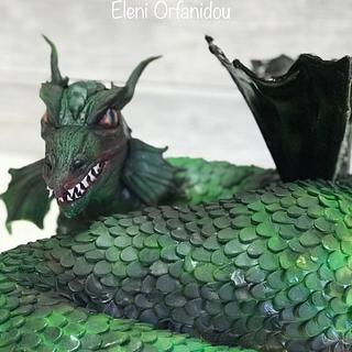 Green Dragon birthday cake