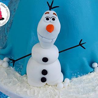 3D Frozen Fondant Olaf