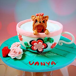 """"""" Pup in a Cup """" Cake"""