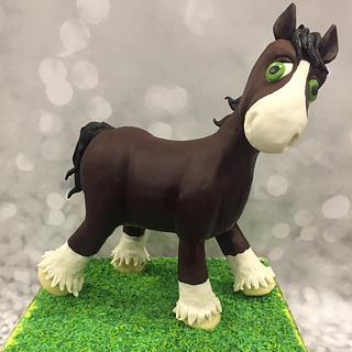 Clyde the Clydesdale Pony