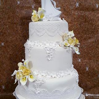 White elegance - Cake by Santis