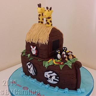 A Noahs Ark cake