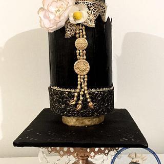 Traditional Javanese dress cake