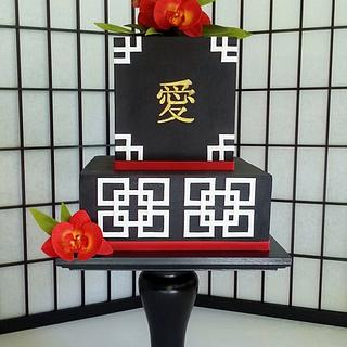 Asian Theme Birthday Cake