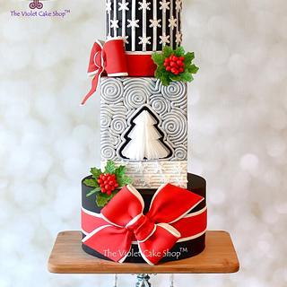 STARRY NIGHT Christmas Cake