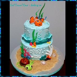 nemo baby shower cake