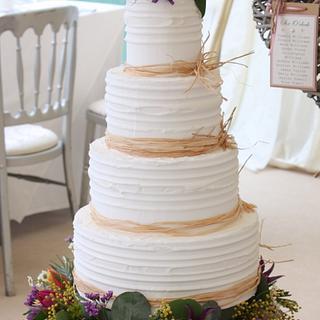Cottage Garden Wedding Cake