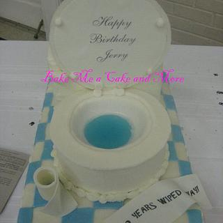 Toilet Birthday Cake