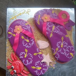 flip flop cake - Cake by sweettooth