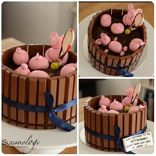 Piglets in Chocolate Pool