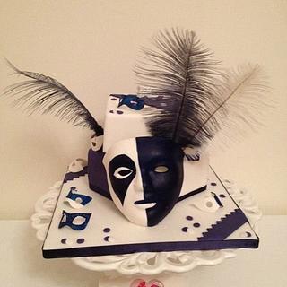 Carnival mask cake