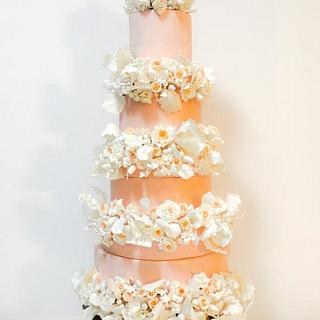 8-Tier Wedding Cake - Cake by Lavender crust