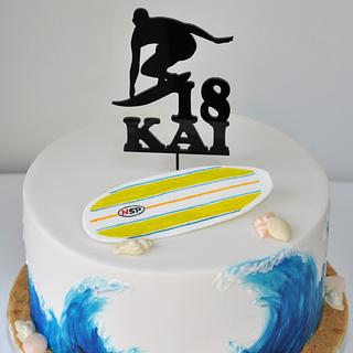 Cool surfer 18th birthday cake - Cake by Mrs Robinson's Cakes