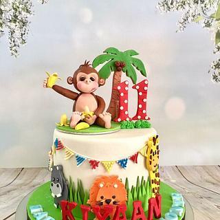 Monkey!  - Cake by Tiers of joy