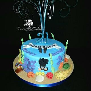 21st Scuba Diver Cake
