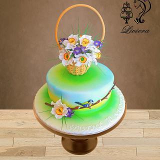 birthday cake - spring flowers