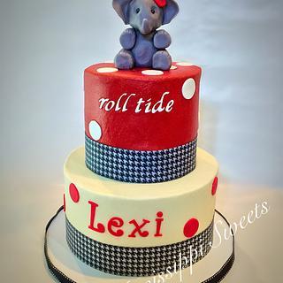 Alabama Crimson Tide Birthday Cake