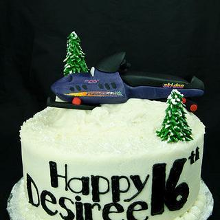Snowmobile Cake