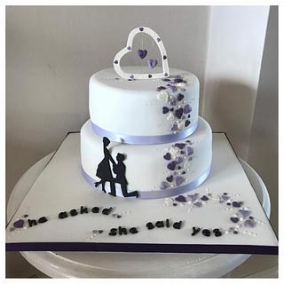 Engagement cake - Cake by Catherine