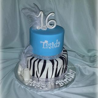 Sweet 16 Birthday Cake