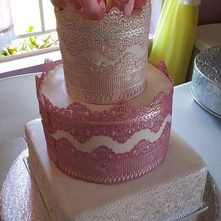my latest lacy wedding cake