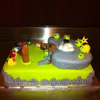 Angry Birds Cake - Cake by Dana
