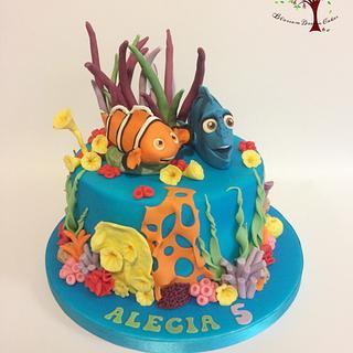 Finding Dory & Nemo - Cake by Blossom Dream Cakes - Angela Morris