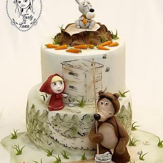 masha and the bear - Cake by grasie