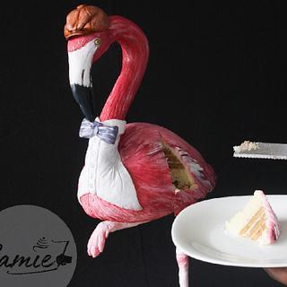Sir flamingo cake