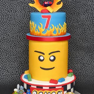 Lego Hot Wheels Cake - Cake by Pam