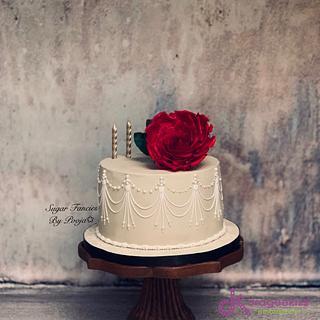 Anniversary Cake - Cake by SugarfanciesbyPooja