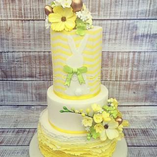 Fondant Cake Topper Sweet Easter Collaboration - Easter Flower Cake