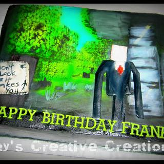 Minecraft with Slender man - Cake by Day
