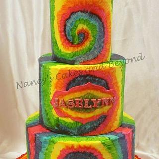 Painted Rainbow Swirls