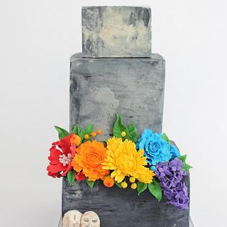 Concrete pride cake  - Cake by Tabi Lavigne