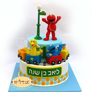 Sesame Street Cake - Cake by Odelia Judes