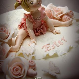 Sweet ballerina ruffle cake