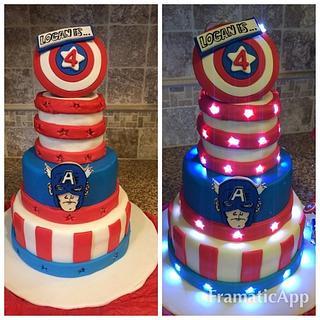 Captain America Light Up Cake
