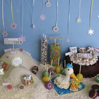 Winter Wonderland Baby Shower Cake - Cake by Taste of Love Bakery