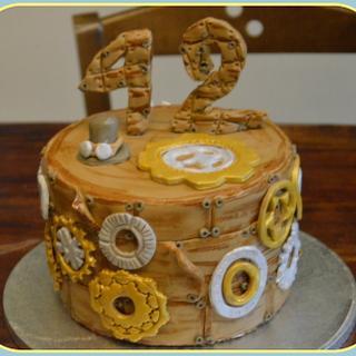 Steampunk birthday cake for him