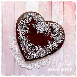 Victorian Heart of Lace cookie