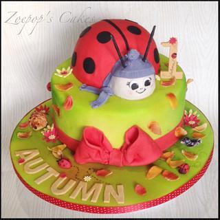 Autumn ladybird  - Cake by Zoepop