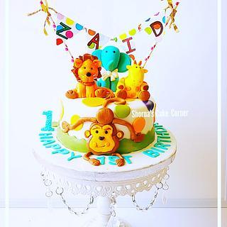 Jungle Themed Cake  - Cake by Shorna's Cake Corner