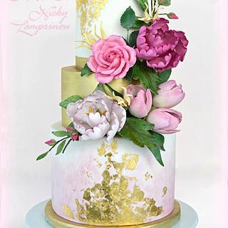 FLORIST WEDDING CAKE